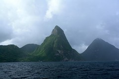 Les Pitons, St Lucia (grayisnotacolor) Tags: cruise carnival vacation saint canon eos rebel july victory catamaran lucia caribbean xs tamron 2010 1000d 18270mm