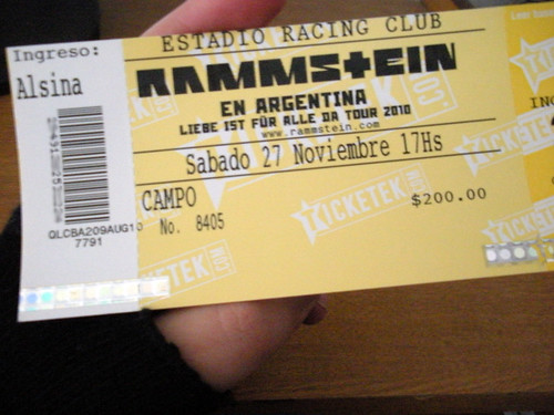 Ticket for Rammstein!