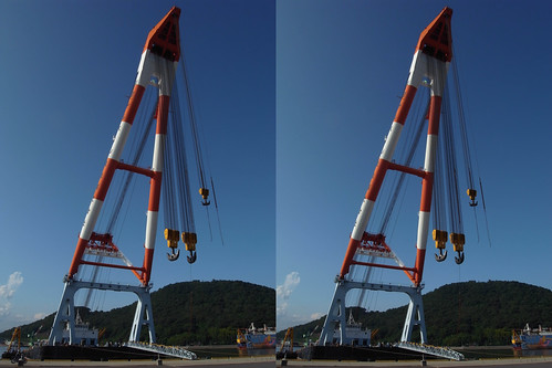Kongo, crane barge, 3D parallel view
