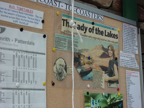 The Coast to Coast message board at Patterdale Village Stores