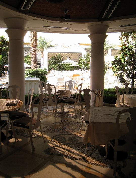 patio tables at Botero in Vegas