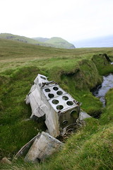 Wreckage of WWII bomber on St Kilda