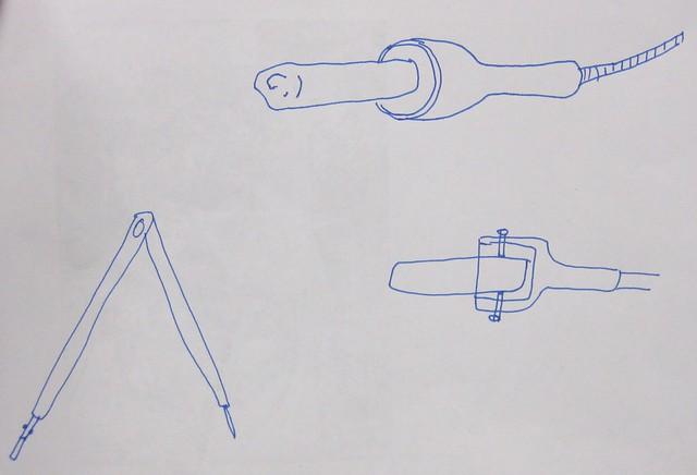chalk holder drawing by glenn