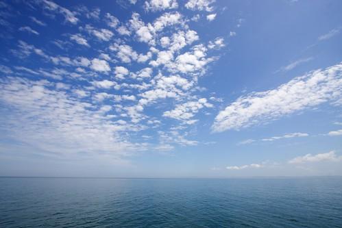 微かに見える宗谷岬