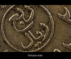25 Cent   ... Macro (HASAN_ADEL) Tags: macro canon lens king cent kingdom 25 micro saudi arabia 28 reversed 450 faisal  riyal     450d