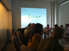 Owen Davis of NYCSeed at the Roes Tech Incubator