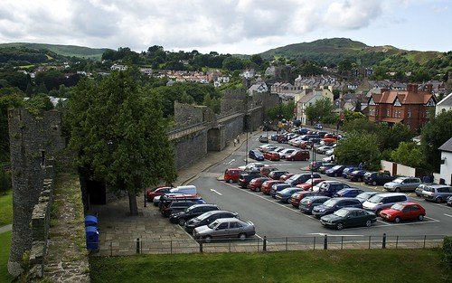 The Car Park Inside Conwy Town Walls