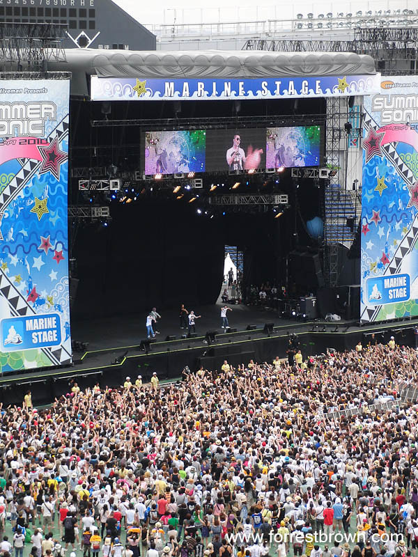 Korean Boy Band Big Bang at the 2010 Summer Sonic Music Festival