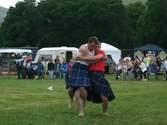 Luss Highland Games 2010 (Hughiee) Tags: wrestling kilts highlandgames luss backhold scottishwrestlingbond