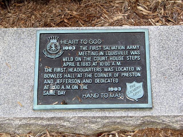 Salvation Army marker