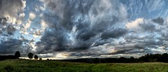 Across The Fields (mariabowskill) Tags: sky panorama clouds scotland photomerge paisley braes canon500d mariabowskill
