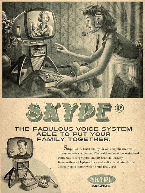 skype ad 60s