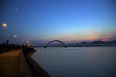 () (MinliangChen) Tags: china bridge sunset summer nature water canon mac aperture riverside hangzhou    2010 zhejiang         mywinners  qiantangriver 5dmarkii fuchunriver gettyimageschinaq1