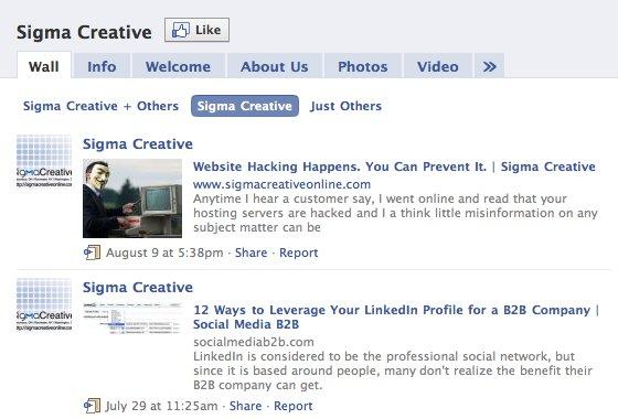 Sigma Creative on Facebook