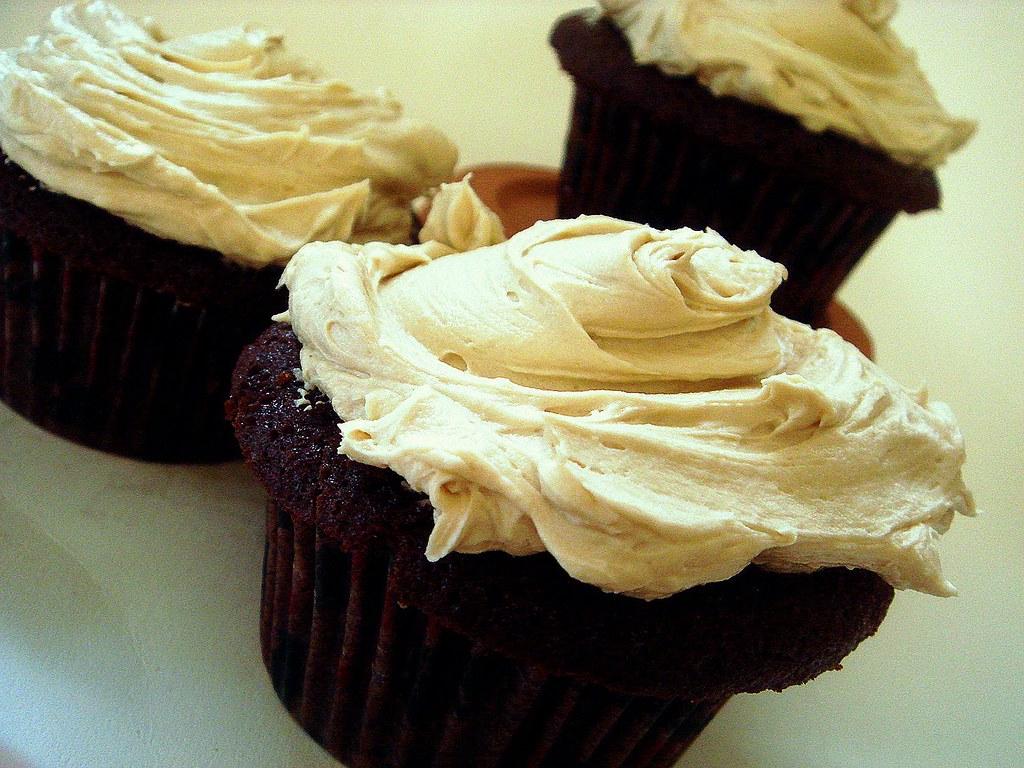 mocha cupcakes+espresso buttercream