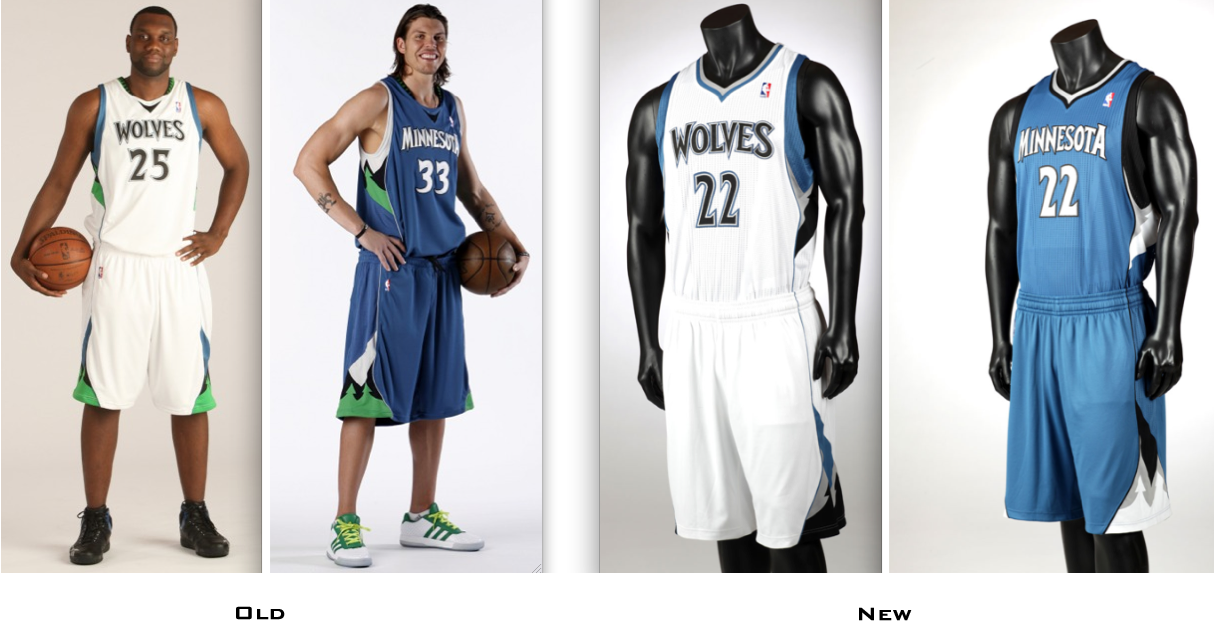 46897915debd ... Timberwolves If you compare the old and new designs