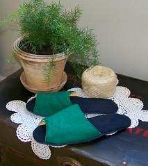 Green & Black Linen