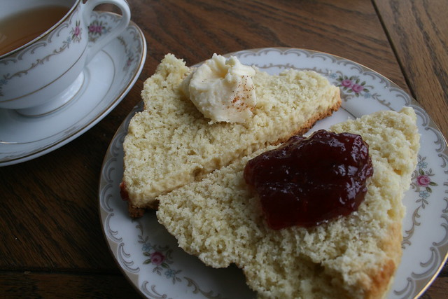 scones with jam & clotted cream