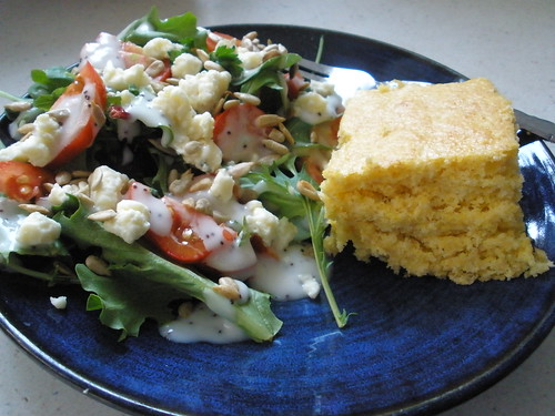 Cornbread with Salad