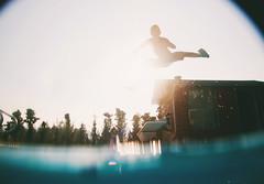 (marrw+) Tags: sunset summer simon pool jump twilight underwater dusk karate 2010 divingboard wha