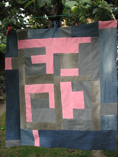 Denim Border on Gee's Bend tribute quilt