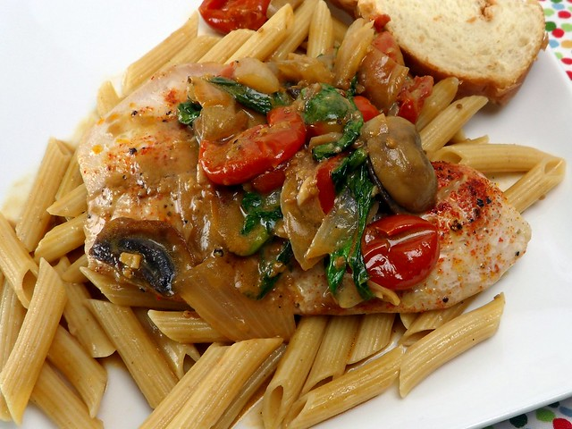 Kacey's Kitchen - Tilapia with Balsamic Mushrooms and Tomatoes 1