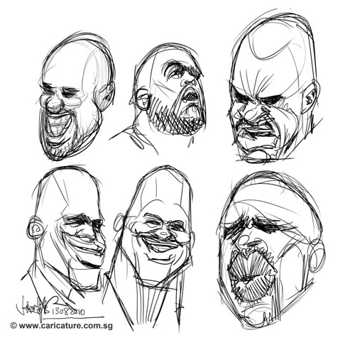 shaquille o'neil thumbnail sketches