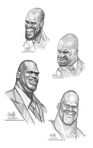 Schoolism Assignment 2 - sketch study of Shaquille O'neil - all