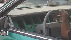 Interior (blondygirl) Tags: auto car sedan mainstreet box interior lincoln bubble 1991 sa bling towncar lowrider steeringwheel greengiant donk lincolntowncar carclub carmeet hirisers mainstreetcruisers