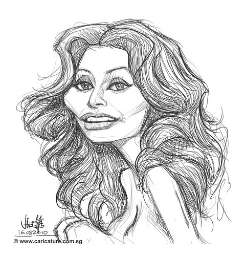 digital sketch of Loren Sophia