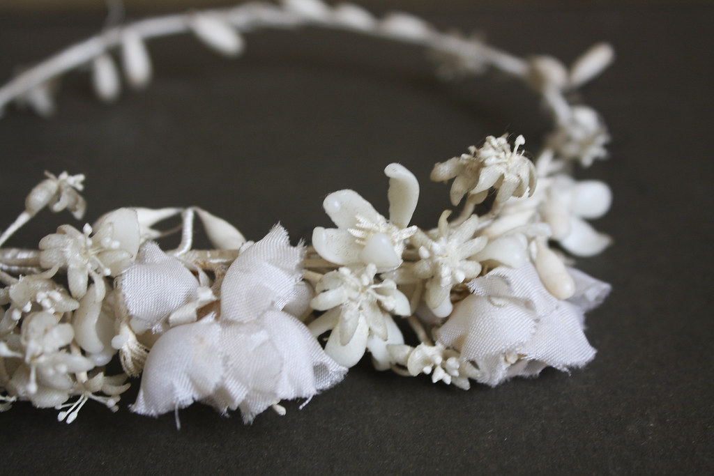 1920s flower girl crown