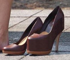 Builtup left high heel (abi111) Tags: high heel builtup