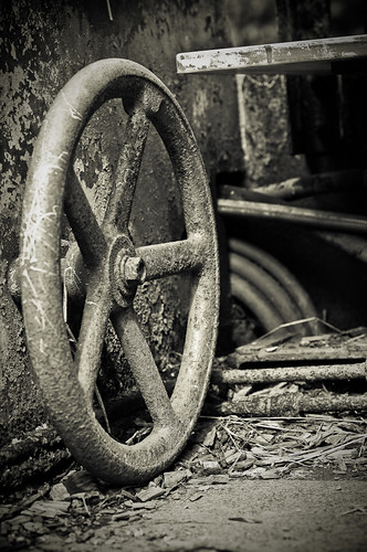 an old rusty wheel....