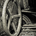 an old rusty wheel....