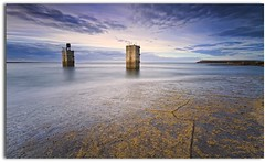 Big Stopper Test - Torness (blue fin art) Tags: canon concrete big rocks lee 7d stopper eastlothian torness
