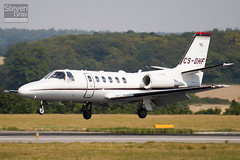 CS-DHF - 550-1025 - Netjets Europe - Cessna 550B Citation Bravo - Luton - 100816 - Steven Gray - IMG_1453