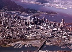 Looking North over Vancouver, BC (R R Horne) Tags: mountains water skyline vancouver bc aerial falsecreek cpr railroads roundhouse fav10