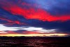 Fire Over Water (Eric_X) Tags: sunset red lake water clouds golden waves tahoe shore firey thegalleryoffinephotography
