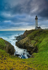 Pigeon Point Lighthouse on a Stormy Evening - San Mateo Coast, California (Jim Patterson Photography) Tags: beach blue california clouds coast coastal coastline filter gitzo goldnbluepolarizer highway1 historical jimpattersonphotography jimpattersonphotographycom landscape lighthouse longexposure marine markinsm20ballhead natural nature nikkor1224mm nikond300 ocean pacific photos pictures pigeonpoint portrait reallyrightstuff remoterelease rocks rocky salt sanmateo sea seascape shore shoreline singhray sky statehistoricalpark storm stormy sunset travel tripod vertical water waves wideangle pescadero usa seatosummitworkshops seatosummitworkshopscom