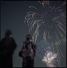 Summer Fireworks in Japan (Kannnnaaa) Tags: portrait hasselblad selfdevelopment  5