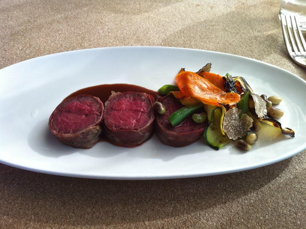 hanger steak dinner