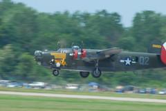 B24 Landing! (nelnov) Tags: b17 bomber b24 noseart novales michiganairshow2010nelnovthunderovermichigan