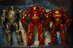 Iron Monger, Hulk Buster Iron Man II, & Hulk Buster Iron Man I (shadowowl) Tags: toy actionfigure ironman marvel marveluniverse hulkbuster