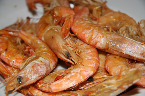 Piping hot grilled shrimp