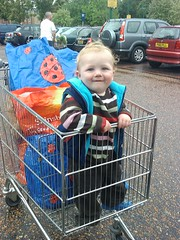 Thomas helping with the shopping