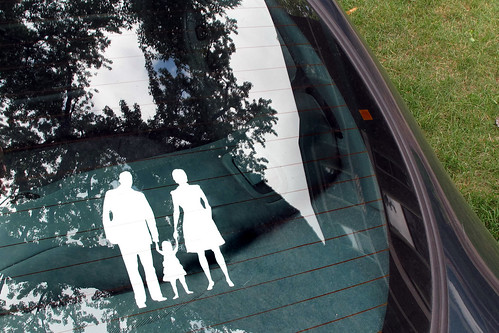 Family Silhouette Car Decal