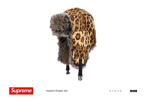 Supreme / Leopard Trooper Hat