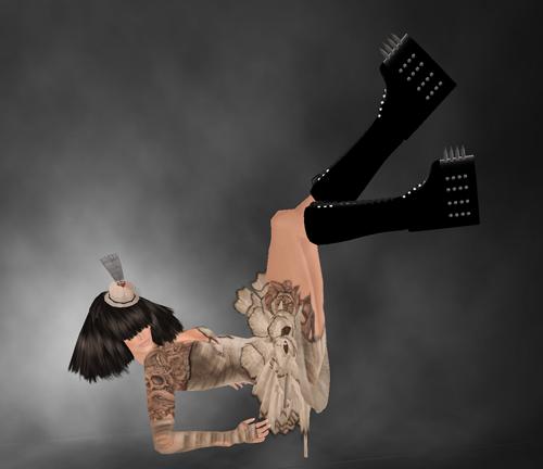 ..::Beauty Killer::.. Spiked Boots + ZombiePopcorn Hunt - ROTTEN TOE - #84 + [kik]2000members group gift 5 colors