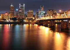 Bridgetown (Ian Sane) Tags: bridge tower skyline oregon marriott canon buildings river portland landscape ian photography eos lights town long exposure flickr downtown mark wells center images collection ii stump getty 5d pdx bridgetown hawthorne fargo willamette koin sane
