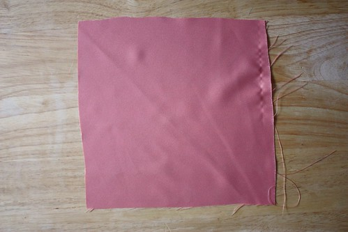 Step 1: Place Your Fabric Square, Right-Side Up